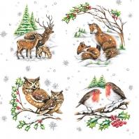Servietten 33x33 cm - Winter Animals