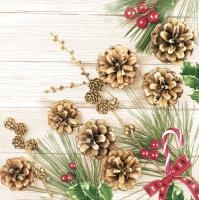 Servietten 33x33 cm - Pines and Larch Twig
