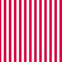 Servietten 33x33 cm - Red Stripes