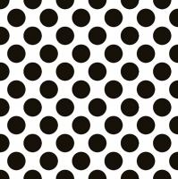 Servietten 33x33 cm - Polka Dots Black