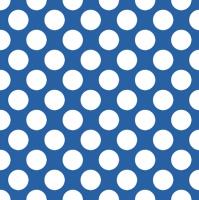 Servietten 33x33 cm - Polka Dots Blue