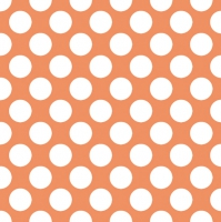 Servietten 33x33 cm - Polka Punkte Orange