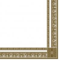 Servietten 33x33 cm - gold Borte auf wei