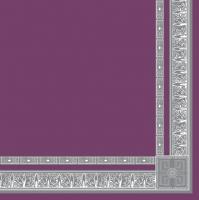 Servietten 33x33 cm - Antique Frame Purple