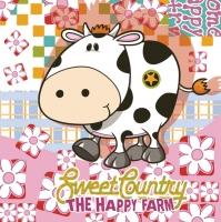 Lunch Servietten Happy Farm
