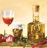 Lunch Servietten Oliven Oil