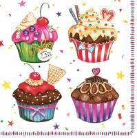 Servietten 33x33 cm - Cupcakes