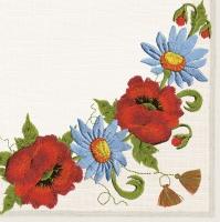 Servietten 33x33 cm - Folklore Flowers
