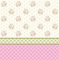 Servietten 33x33 cm - Englische Blumentapete