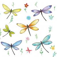 Lunch Servietten Colourful Dragonflies
