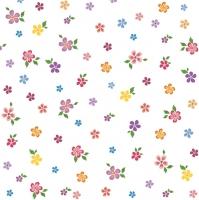 Servietten 33x33 cm - kleine bunte Blumen