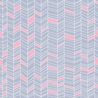 Servietten 33x33 cm - Pink & Blue Zig Zag