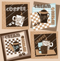 Servietten 33x33 cm - Graphic Coffee Squares