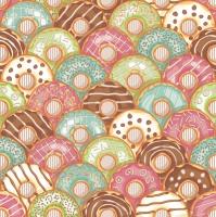 Servietten 33x33 cm - Bunte Donuts