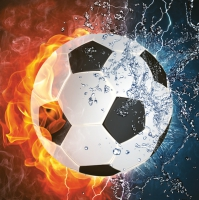 Servietten 33x33 cm - Football on Fire & Water