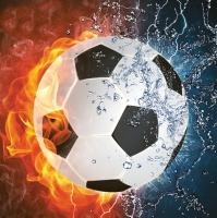 Lunch Servietten Football on fire