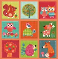 Servietten 33x33 cm - Woodland Lovely Animals