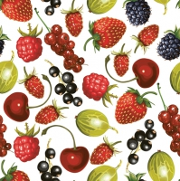 Servietten 33x33 cm - Summer Fruits Allover