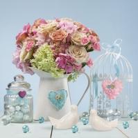 Servietten 33x33 cm - Jug Full of Flowers