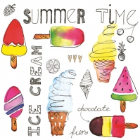 Servietten 33x33 cm - Ice Cream Time