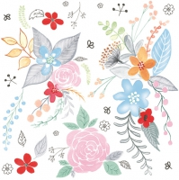 Servietten 33x33 cm - Garden Fantasy