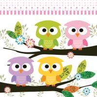 Servietten 33x33 cm - Cute Owls