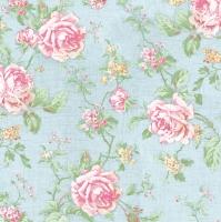 Servietten 33x33 cm - English Style Roses Blue