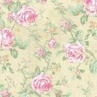 Servietten 33x33 cm - Englische Rosen Ecru Stil