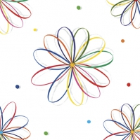 Servietten 33x33 cm - Full Colour Graphic Flowers Pattern