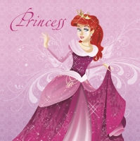 Servietten 33x33 cm - Pink Princess with Red Hair
