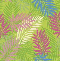 Servietten 33x33 cm - Tropical Palm Leaves