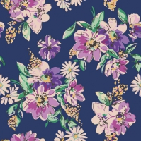 Servietten 33x33 cm - Flower Meadow Pattern – Dark Blue