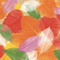 Servietten 33x33 cm - Leaves