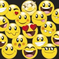 Servietten 33x33 cm - Smileys