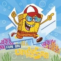 Servietten 33x33 cm - Funny Sea Sponge