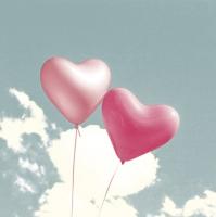 Servietten 33x33 cm - Balloon Hearts