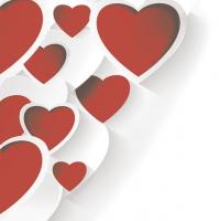 Servietten 33x33 cm - Creative 3D Hearts