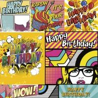 Servietten 33x33 cm - Cartoon Style Birthday