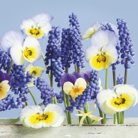 Servietten 33x33 cm - Blue Spring Story