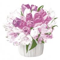Servietten 33x33 cm - Pastel Bouquet