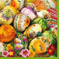 Servietten 33x33 cm - Painted Eggs