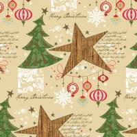 Servietten 33x33 cm - Christmas Trees & Stars