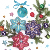 Servietten 33x33 cm - Handmade Colourful Snowflakes