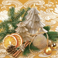 Servietten 33x33 cm - Weihnachtsbaumkerzen