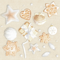 Servietten 33x33 cm - Set of Eco Xmas Elements