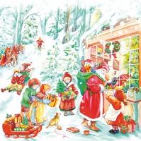 Servietten 33x33 cm - Winterweihnacht