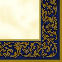 Servietten 33x33 cm - Rokoko-Muster Blau