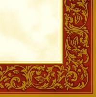 Servietten 33x33 cm - Rococo Pattern Red