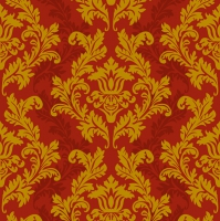 Servietten 33x33 cm - Red & Gold Wallpaper