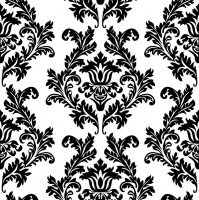 Servietten 33x33 cm - White & Black Wallpaper